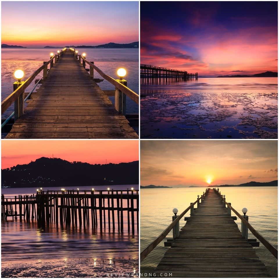 4.-หาดชาญดำริ-ชายหาดสะพานไม้สวยๆ-ฟินๆ  จุดเช็คอิน,ระนอง,สถานที่ท่องเที่ยว,ของกิน,ทะเล,ภูเขา